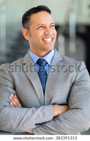 portrait of good looking mature business executive - stock photo