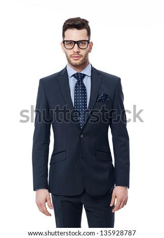 Portrait of handsome businessman - stock photo