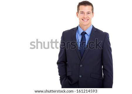 portrait of handsome young business executive  - stock photo