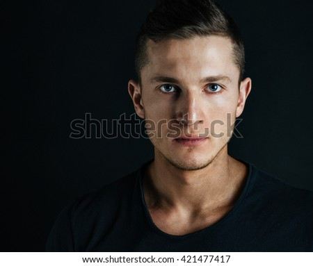 portrait of handsome young man - stock photo