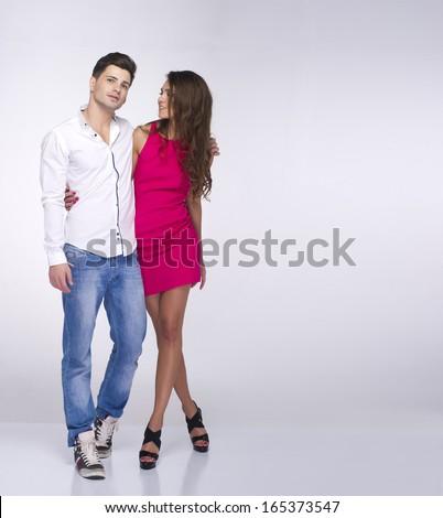 Portrait of happy couple  - stock photo
