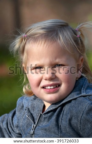 Portrait of happy girl - stock photo