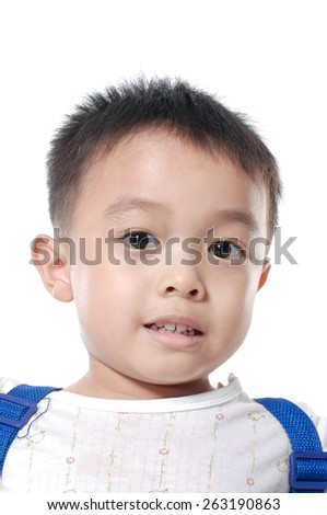 Portrait of happy little boy - stock photo