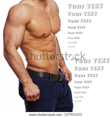 Portrait of healty and well trained body - stock photo