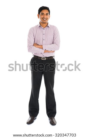 portrait of indian business male smiling - stock photo