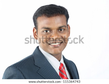Portrait of Indian Businessman - stock photo