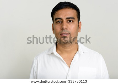 Portrait of Indian man - stock photo