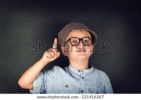 Portrait of male elementary school Student - stock photo