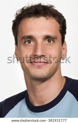 Portrait of mid adult Caucasian man - stock photo