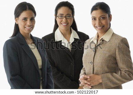 Portrait of multi-ethnic businesswomen - stock photo