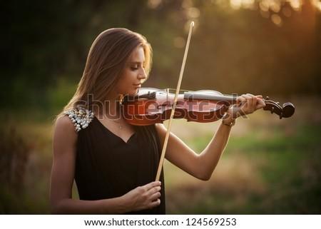 portrait of musician - stock photo