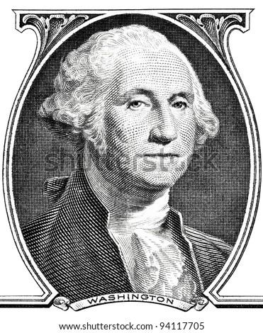 Portrait of president George Washington. - stock photo