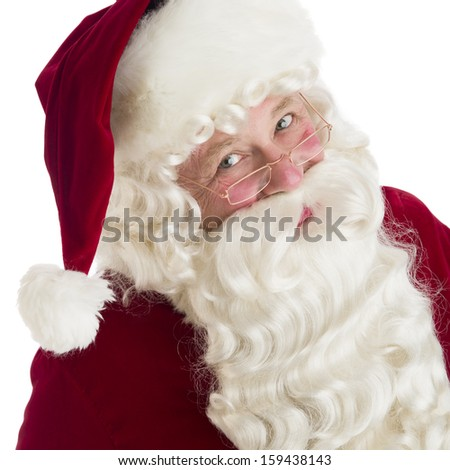 Portrait of Santa Claus - stock photo