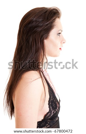 portrait of sexy young woman in underwear - stock photo