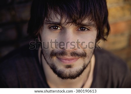 Portrait of Smiling Young Man - stock photo