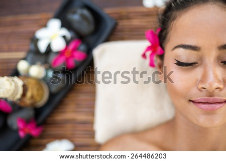 Portrait of spa woman at the health spa - stock photo