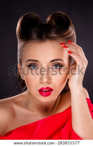 Portrait of Styled Woman - stock photo