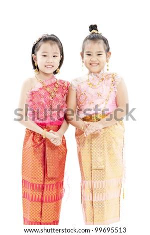 portrait of Thai girl - stock photo