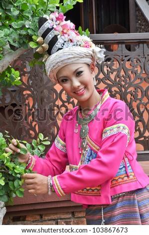 portrait of Thai women - stock photo