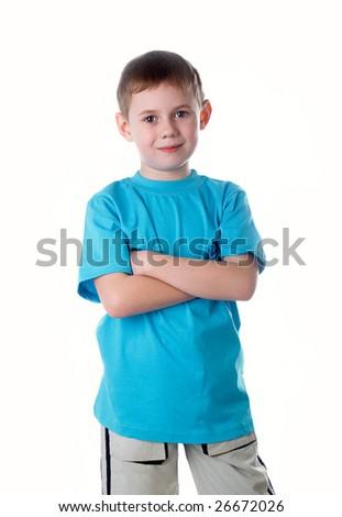 Portrait of the beautiful boy - stock photo
