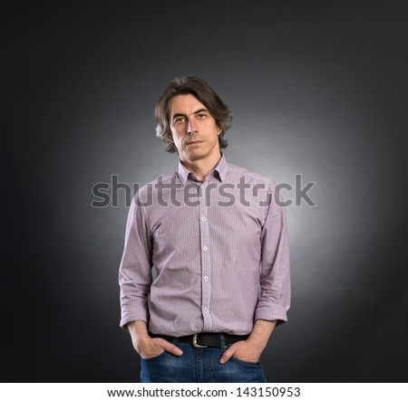 Portrait of the man - stock photo