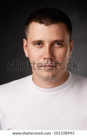 Portrait of the young man - stock photo