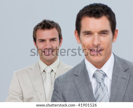 Portrait of two confident businessmen - stock photo