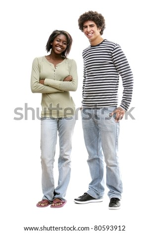 Portrait Of Two Young Adults - stock photo