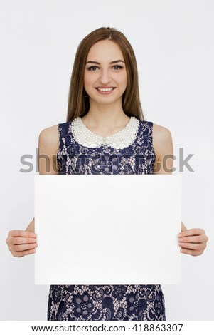 Portrait of woman in colorful dress - stock photo