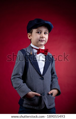 Portrait of young attractive gentleman, close-up - stock photo