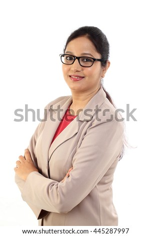 Portrait of young business woman - stock photo