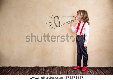 Portrait of young businessman in office. Success, creative and innovation concept - stock photo