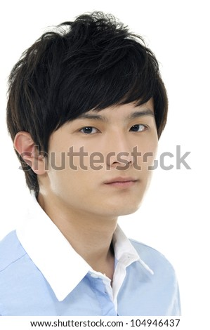 Portrait of young casual man - stock photo