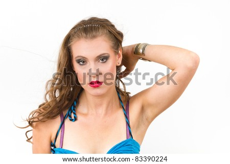 Portrait of young glamour woman - stock photo