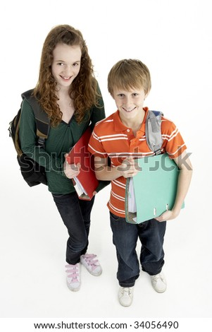 Portrait Of Young Male And Female Students - stock photo