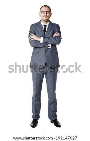 Portrait of young manager with serious face.  - stock photo