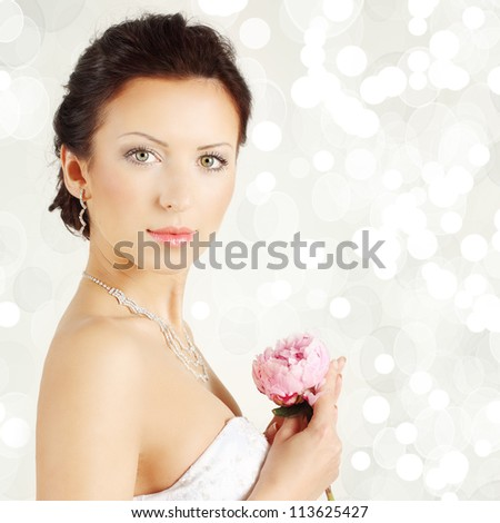 Portrait of young pretty woman - stock photo