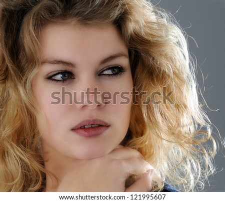 PORTRAIT OF YOUNG WOMA - stock photo