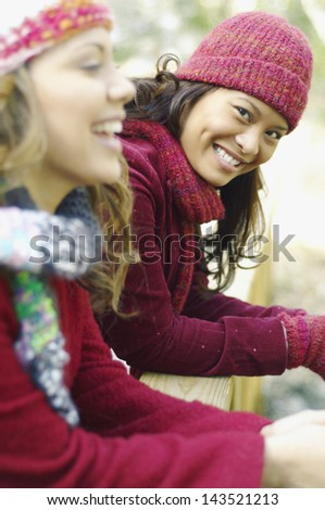 Portrait of young women smiling - stock photo