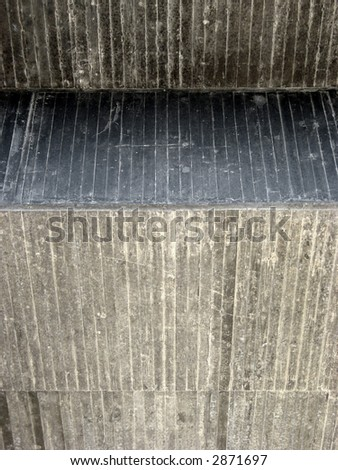 Portrait photo of a concrete overpass - stock photo