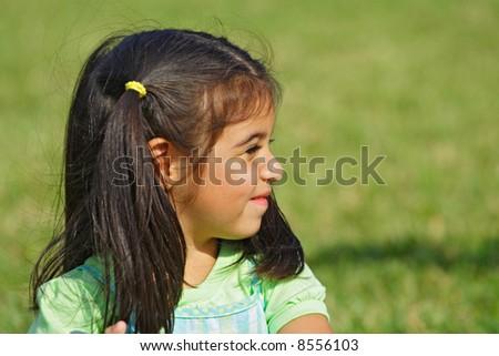 Portrait Profile - stock photo