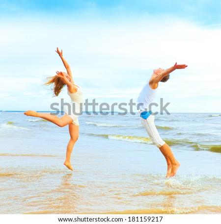 Portrait Vacation Couple  - stock photo