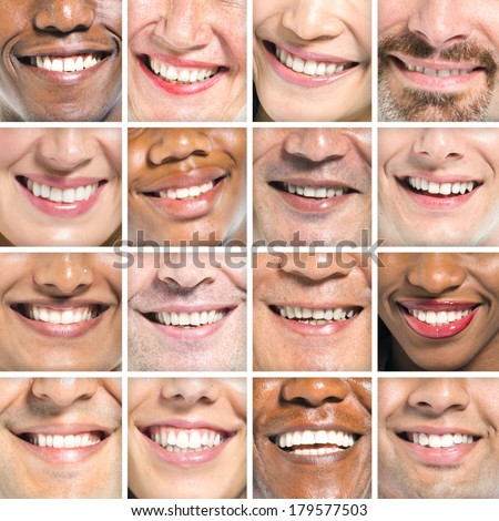 Portraits od Variation of Multi-ethnic Smiles - stock photo