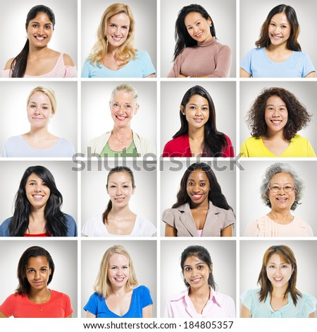 Portraits of Multi-Ethnic Women - stock photo