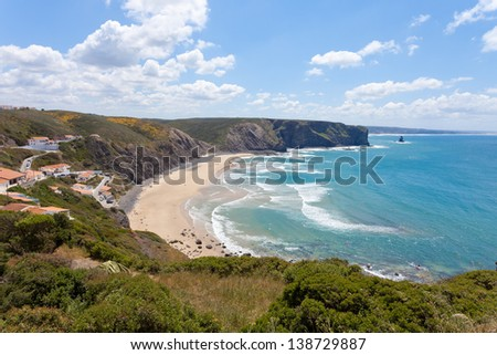 Portugal - Algarve - Praia da Arrifana - stock photo