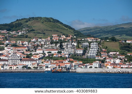 Portugal, Azores, Faial island. - stock photo