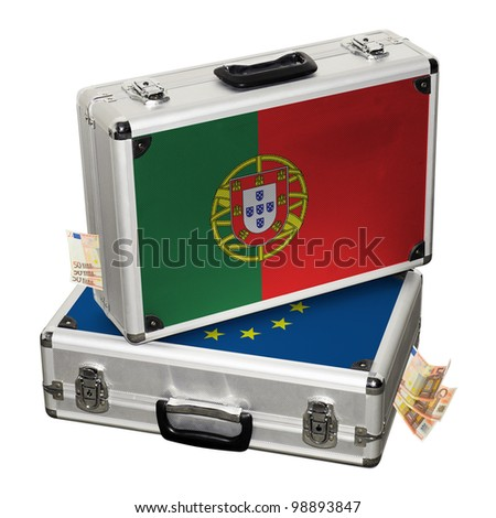 Portugal financial crisis. Financial assistance. - stock photo