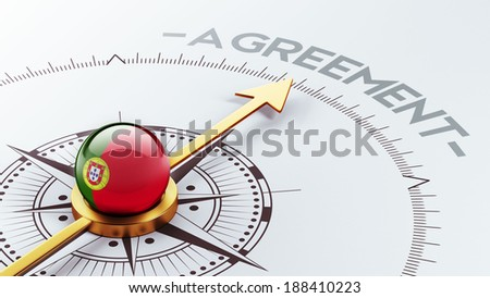 Portugal High Resolution Agreement Concept - stock photo