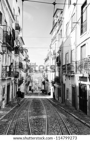 Portugal, Lisbon, Bairro Alto area - stock photo