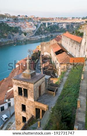Portugal. Porto city. The other side of Porto. Ribeira - stock photo